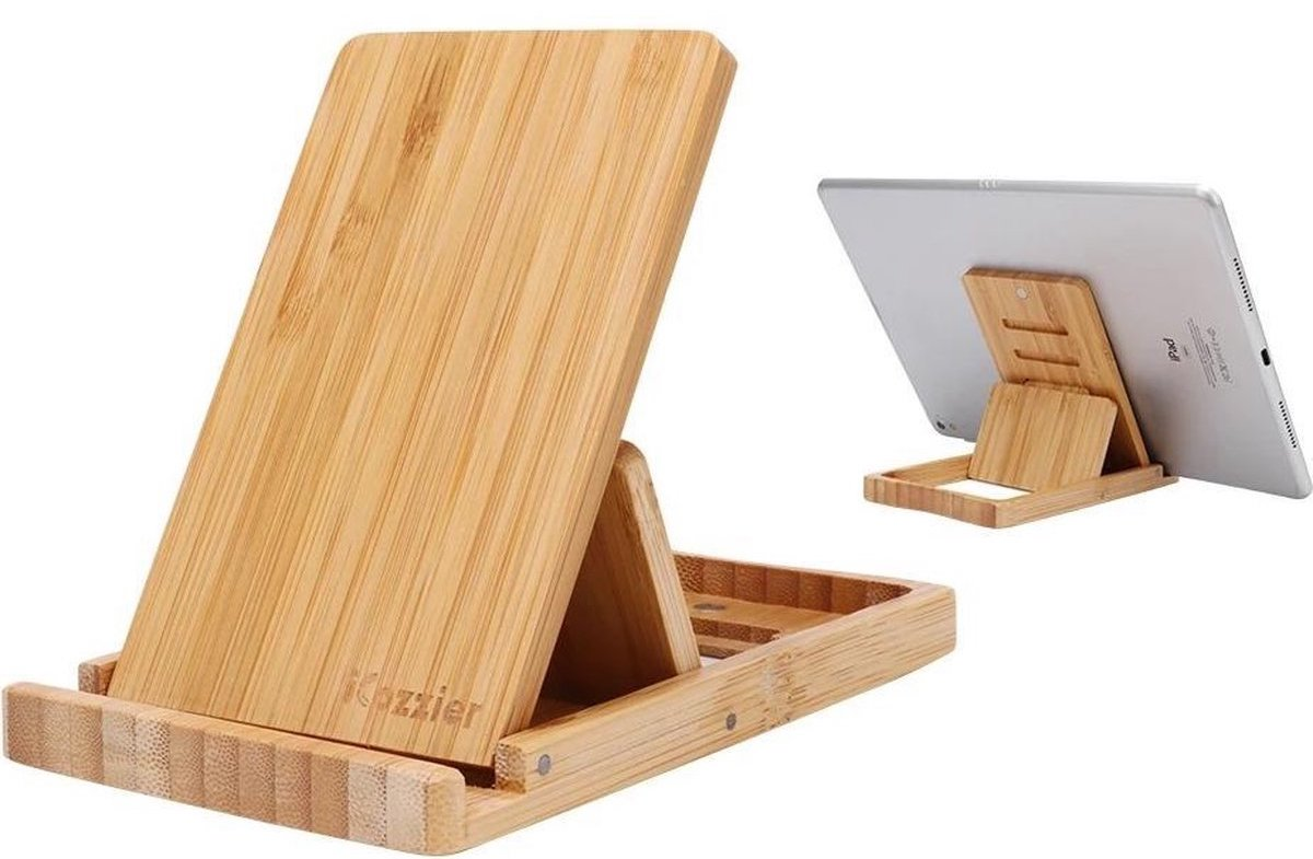Bamboo telephone / tablet stand